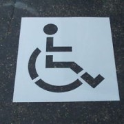 Handicap Parking Lot Stencils